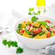 Vegetable green beans and corn salad with tomato, red onion and parsley - PhotoDune Item for Sale