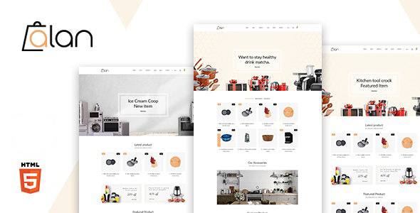 Alan – Kitchen Accessories Bootstrap 5 HTML Template