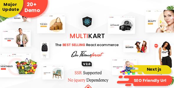Marvelous Multikart - React Next JS Multipurpose Ecommerce, React Hooks , GraphQL & REST API