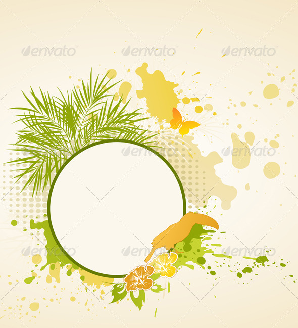 Summer Tropical Background - Backgrounds Decorative