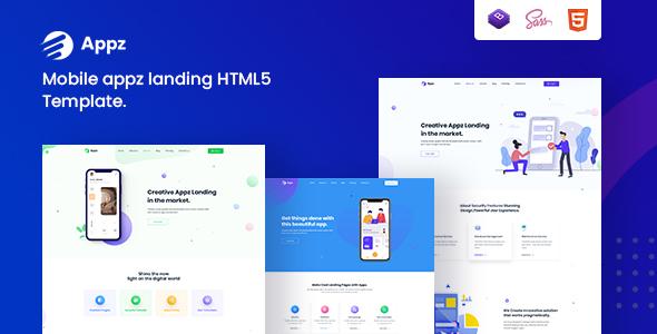 Appz – Mobile App landing HTML5 Template