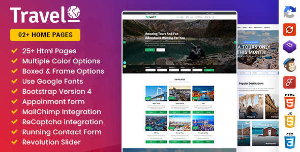 Triper: Creative Tour & Travel, Hotel Booking Agency HTML Template