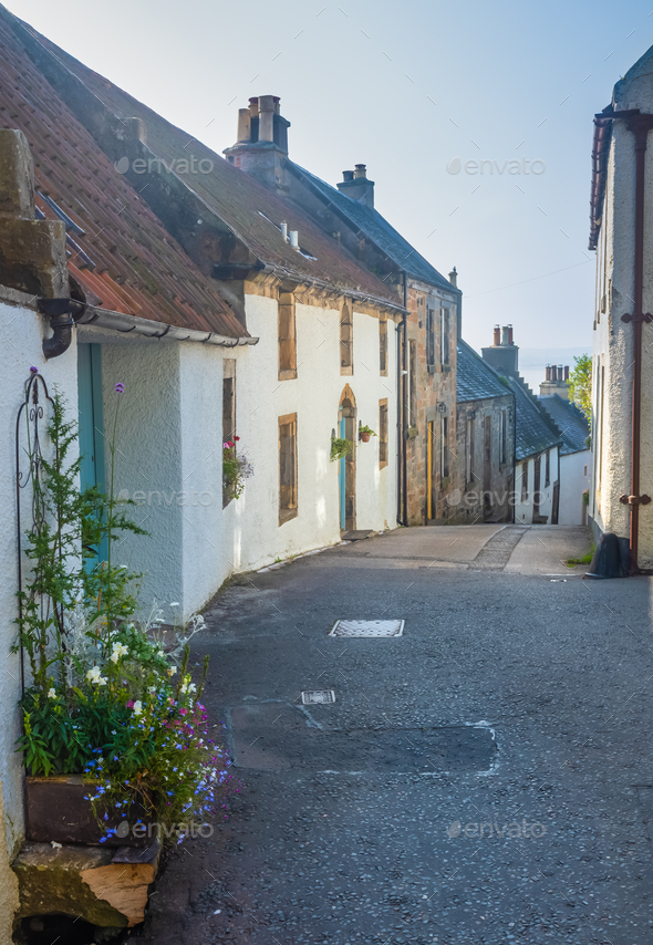 Coastal Village Street - Stock Photo - Images