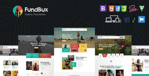 FundBux – Charity & Fundraise Template