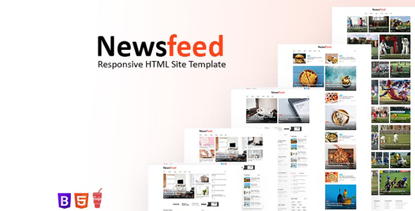 Newsfeed – Responsive News Magazine Bootstrap 5 Site Template