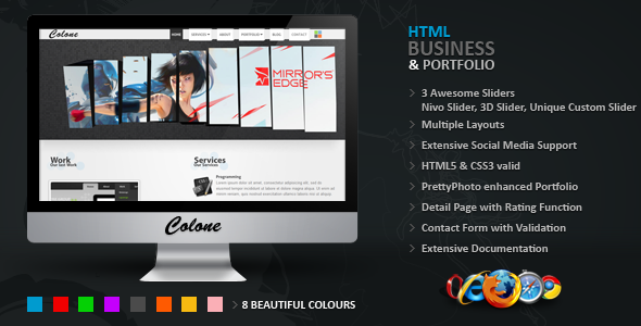 Free Download Colone 3 HTML Template Nulled Latest Version