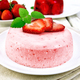 Panna cotta strawberry on light board - PhotoDune Item for Sale