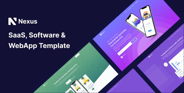 Nexas – Saas & Software Landing Page