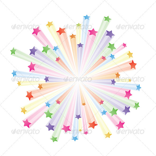 Colorful stars - Seasons/Holidays Conceptual