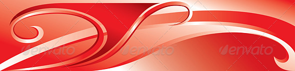 Vector red flourish background - Backgrounds Decorative