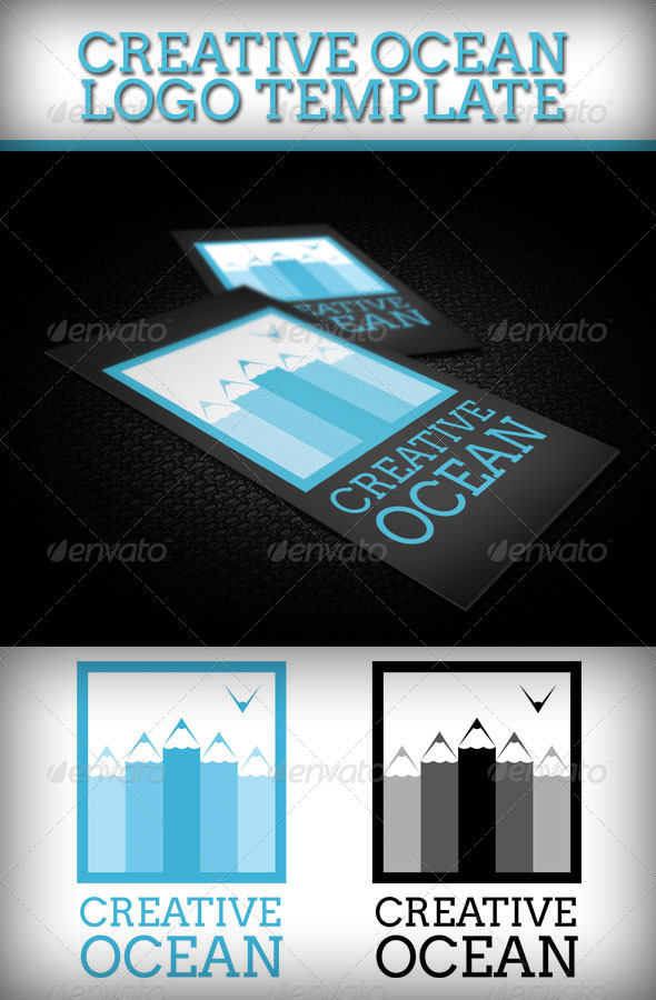 Creative Ocean Logo Template - Objects Logo Templates