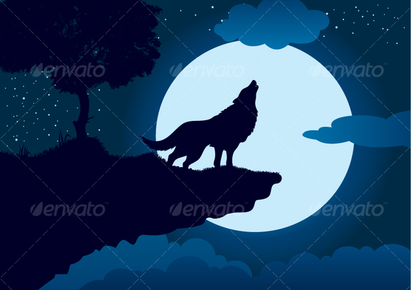 Vector Wolf - Animals Characters
