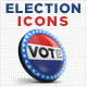 Three High Quality Election Icons - GraphicRiver Item for Sale