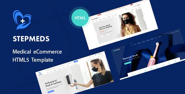 Stepmeds – Medical Equipment Store eCommerce HTML Template