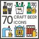 70 Craft Beer Icons | Aesthetics Series