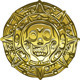 Vector gold Money pirate coin with a skull - GraphicRiver Item for Sale