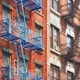 New York blue fire escape - PhotoDune Item for Sale