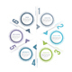 Circle Infographics with Six Elements