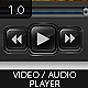 Glossy Video / Audio Player - GraphicRiver Item for Sale