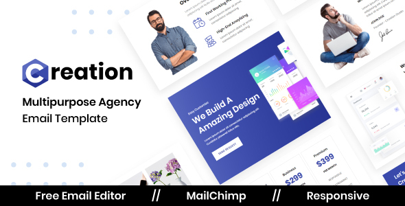 Creation Agency - Multipurpose Responsive Email Template