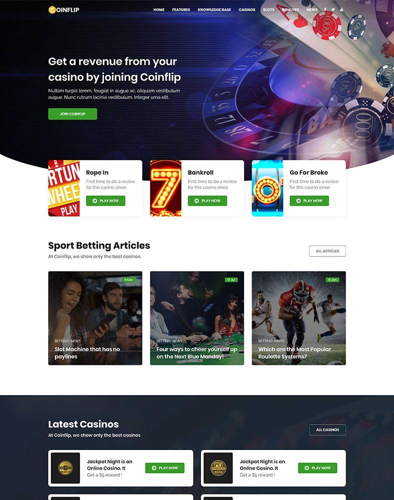 Coinflip - Casino Affiliate & Gambling WordPress Theme by modeltheme