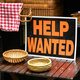Help Wanted sign displayed in a shop in a job vacancy concept - PhotoDune Item for Sale