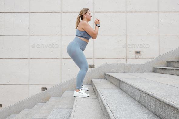 Plus size woman training - Stock Photo - Images
