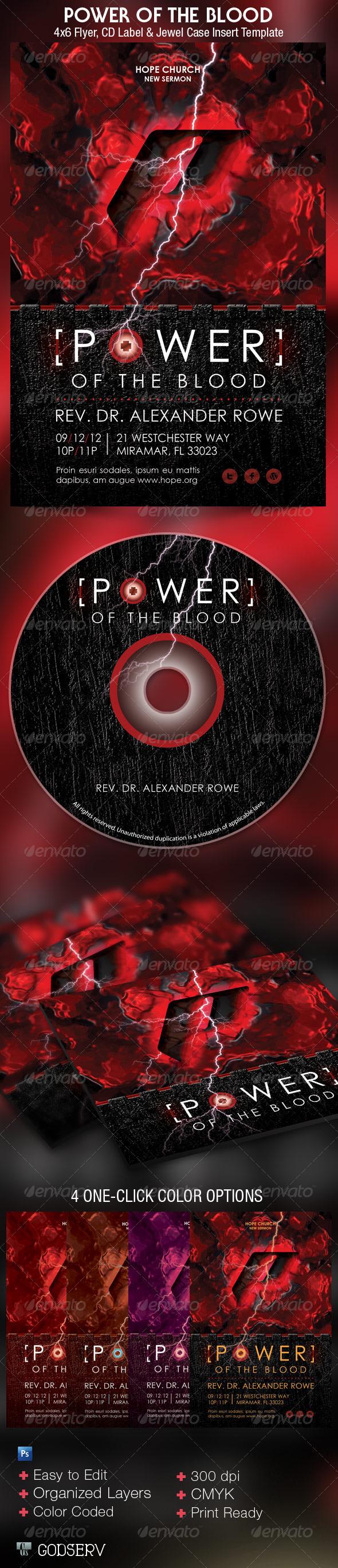 Blood Church Flyer CD Template - Church Flyers
