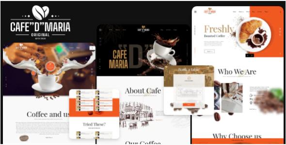 "Café ""D"" Maria – Restaurant Template"