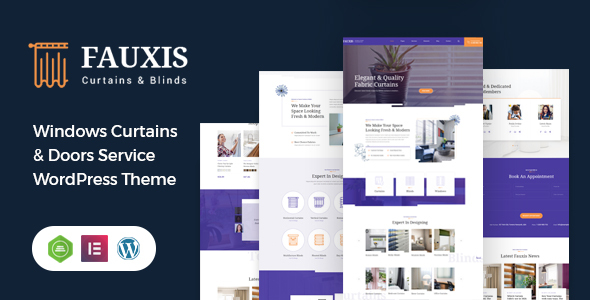 Download Fauxis – Windows Curtains WordPress Theme Free Nulled