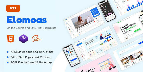 Elomoas – LMS & Online Courses Educational HTML Template