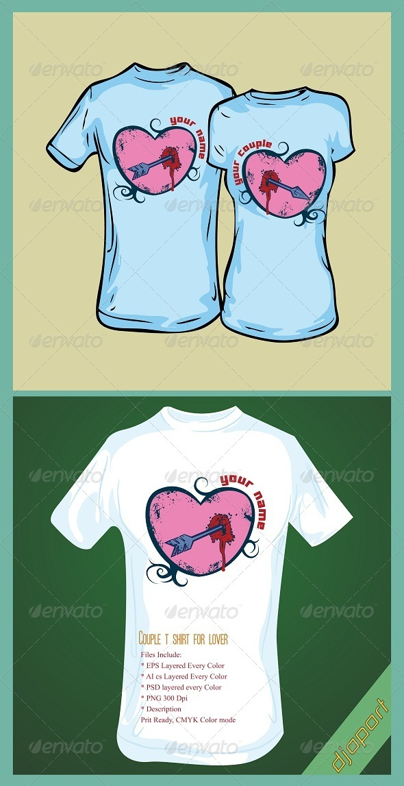 Couple lover t shirt design - Clean Designs
