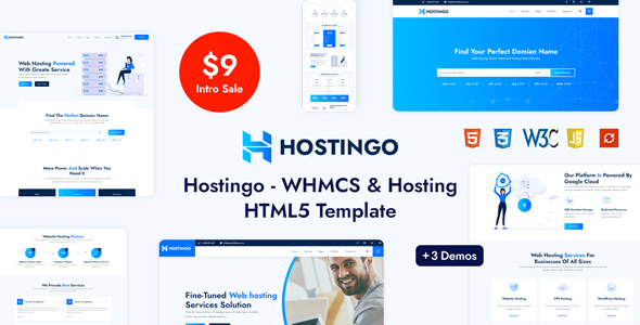 Hostingo – WHMCS & Hosting HTML5 Template