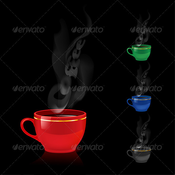 Color coffee mugs. - Miscellaneous Vectors