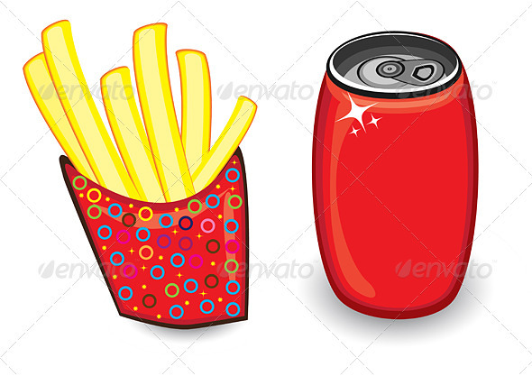 Fast food in Vector format - Food Objects