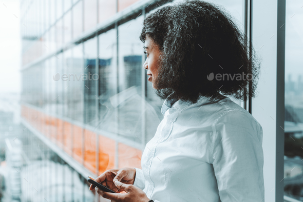 An African-American businesswoman - Stock Photo - Images