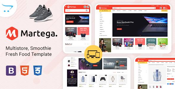 Martega - Mega Super Market OpenCart Template
