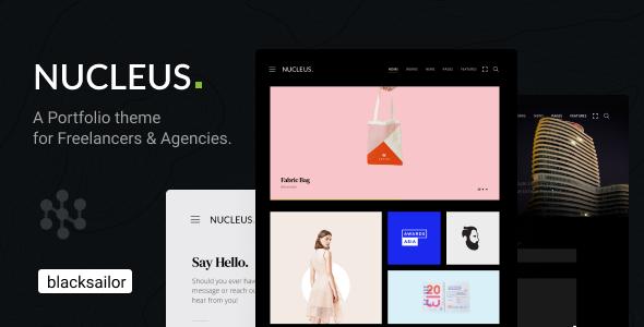 Nucleus: Portfolio WordPress Theme