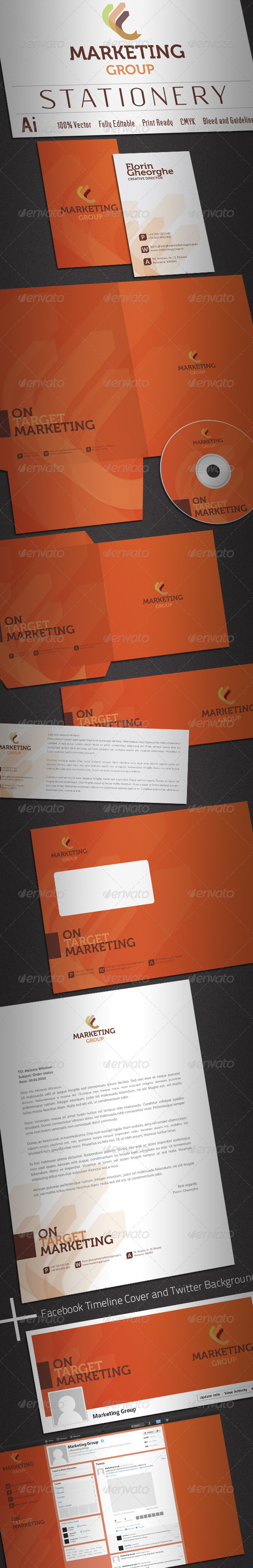 Marketing Group Stationery - Stationery Print Templates
