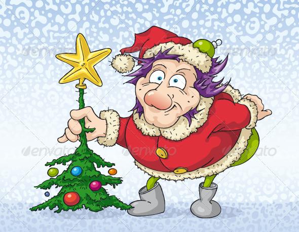 Young Santa Claus - Characters Vectors