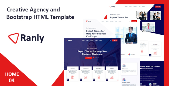 Ranly - Creative Agency Bootstrap HTML Template