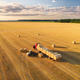 Aerial view of truck with hay bales. Agricultural machinery - PhotoDune Item for Sale