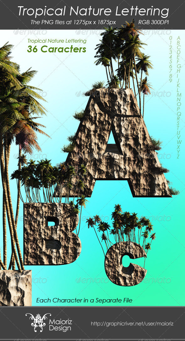 Tropical Nature Lettering - Miscellaneous Backgrounds
