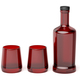 Red glass bottle and two glasses - PhotoDune Item for Sale