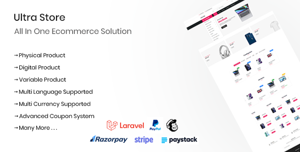 Download Ultra Store – All In One Ecommerce Solution Free Nulled