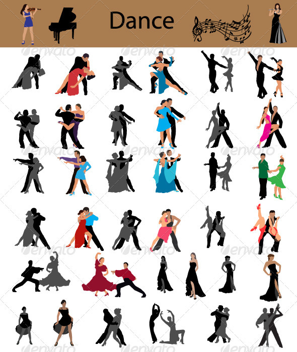 Dance vector - People Characters