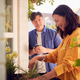 Mature Asian Couple Planting Plants Into Wooden Garden Planter At Home - PhotoDune Item for Sale