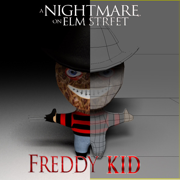 Freddy Kruger Kid Model - 3DOcean Item for Sale