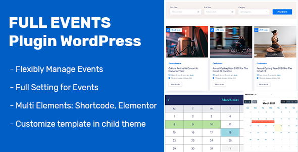 Download FullEvents – Event Plugin WordPress Free Nulled