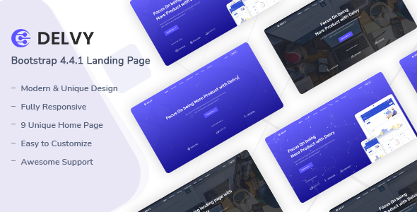 Delvy - Responsive Landing Page Template